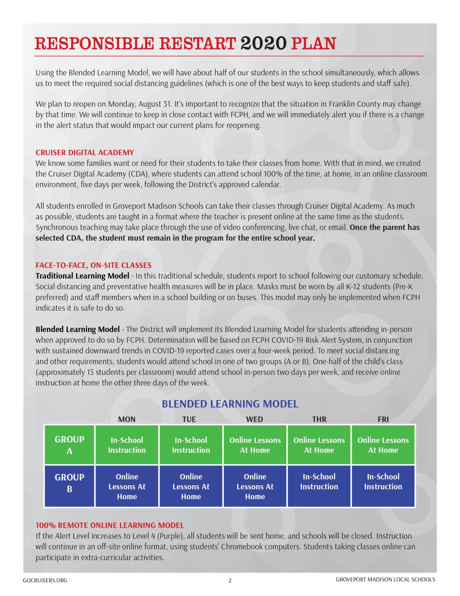 Responsible Restart 2020 Plan page 2