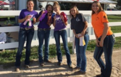 Five female Grant Equine Students, standing together