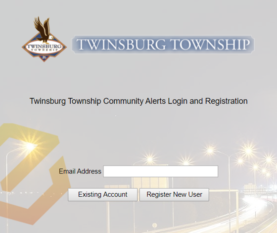 Twinsburg Township Portal Registrater or log in
