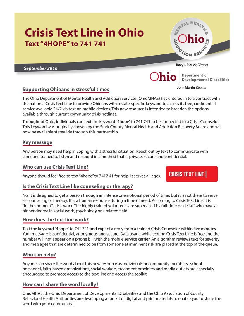 Crisis Text Line 1