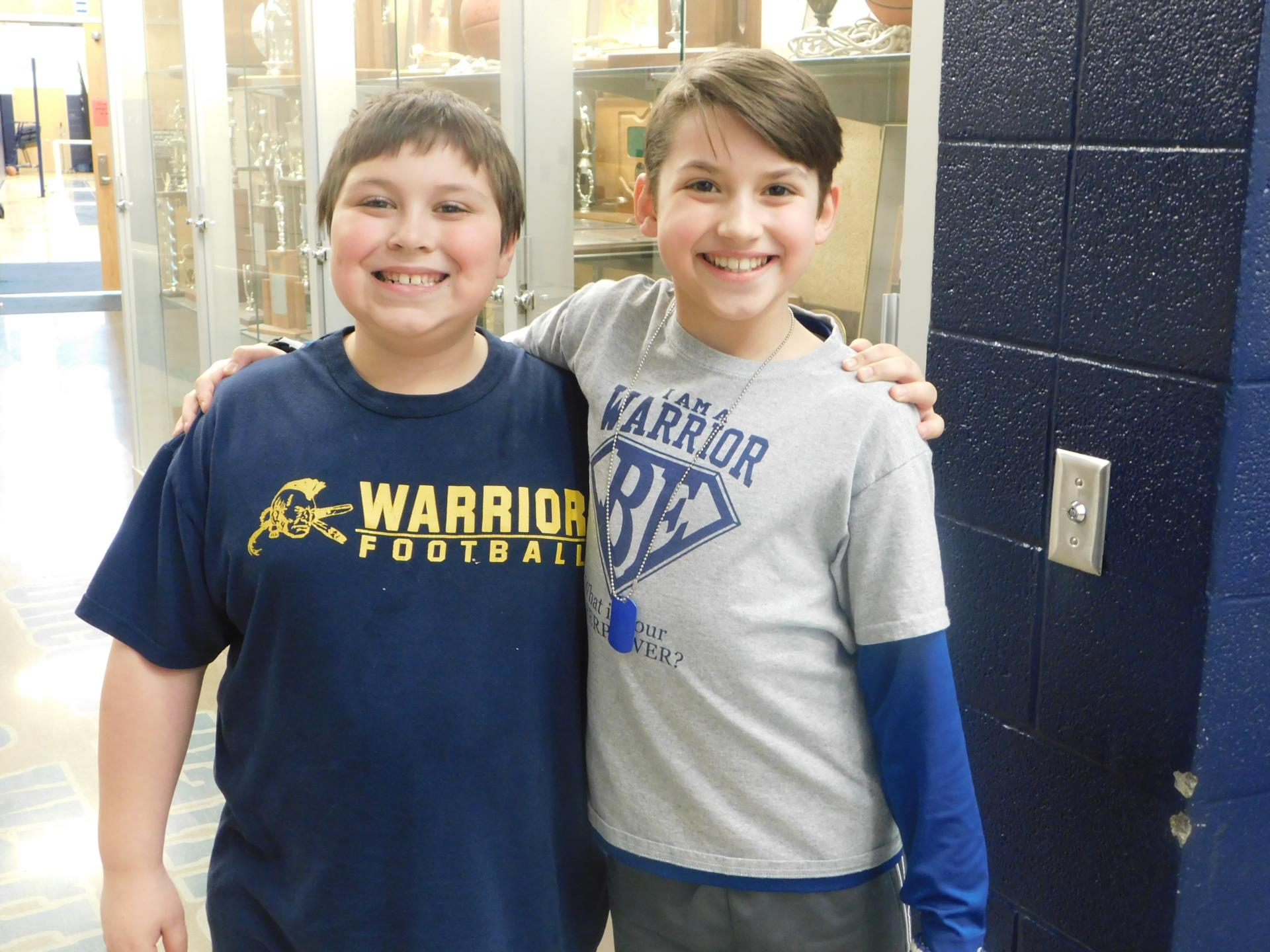 students in warrior wear