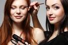 An image link to the Cosmetology Management page, the image depicts a woman applying eye liner to another woman's eye.