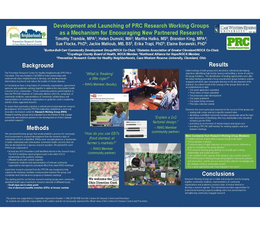 PRCHN Research Working Group poster