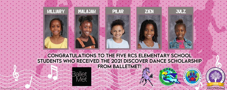 BalletMet Scholarship Recipients