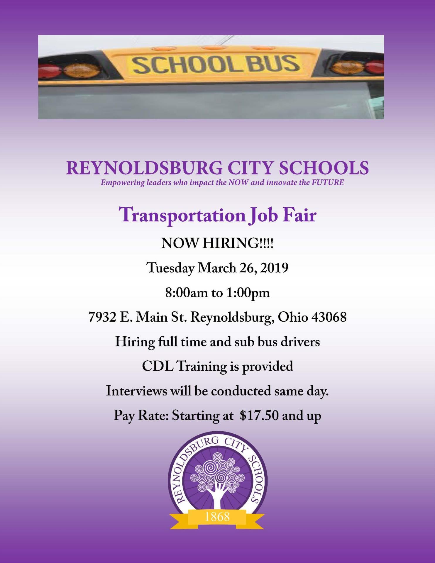 Bus Driver Job Fair