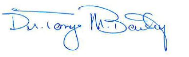 Dr. Bailey Signature
