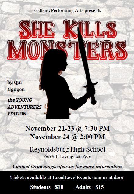 She Kills monsters Poster
