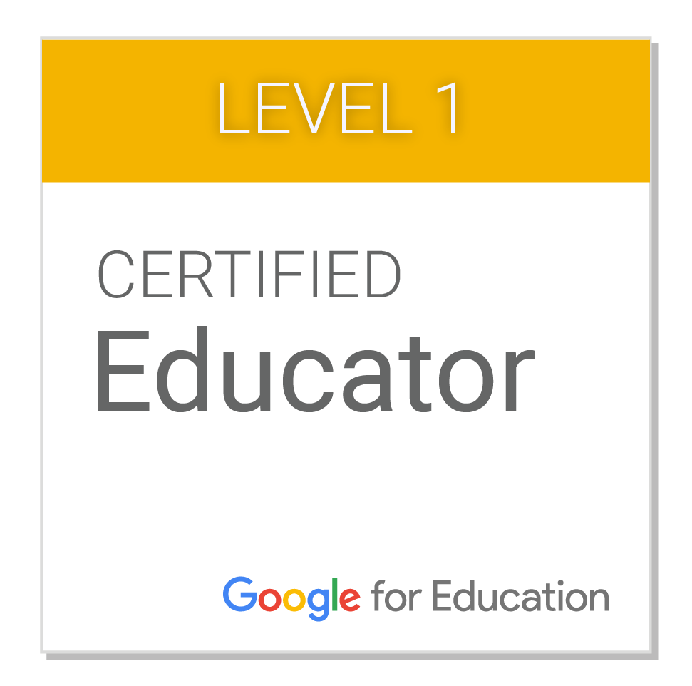 level 1 google certified educator badge