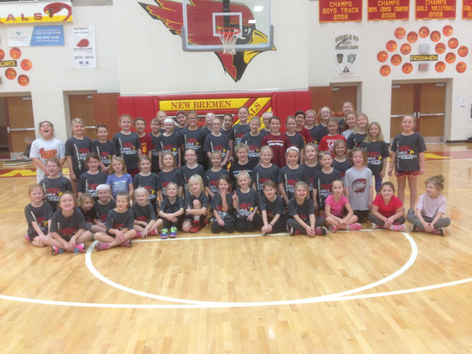 2017 Girls Basketball Youth Camp Participants