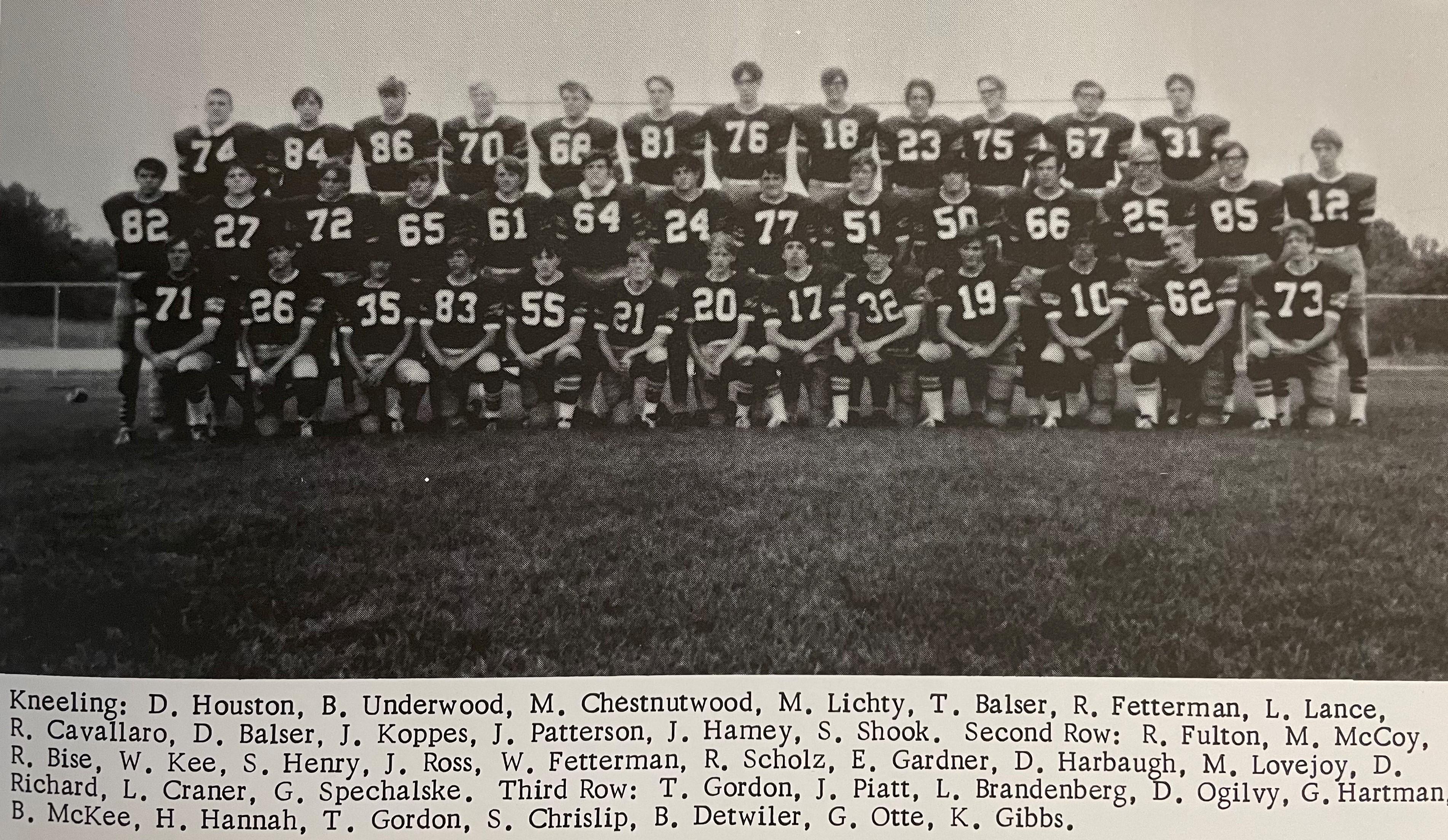 1971 Colts Football Team