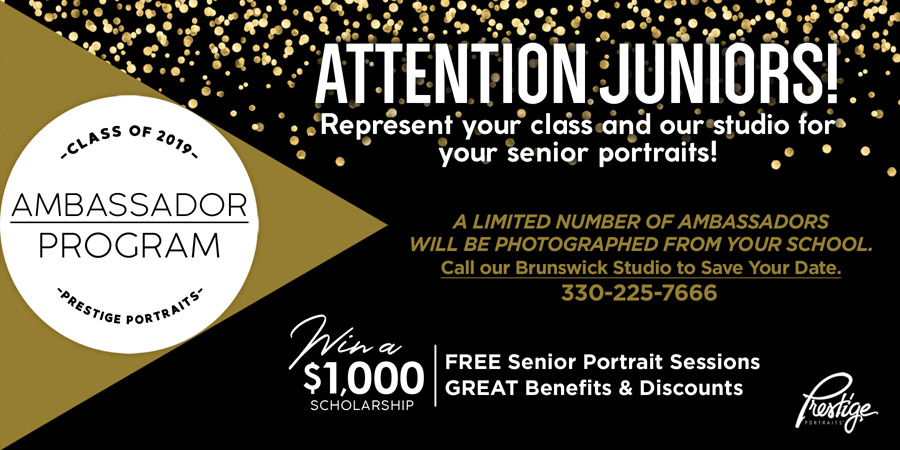 Prestige Photography Ambassador Program for juniors