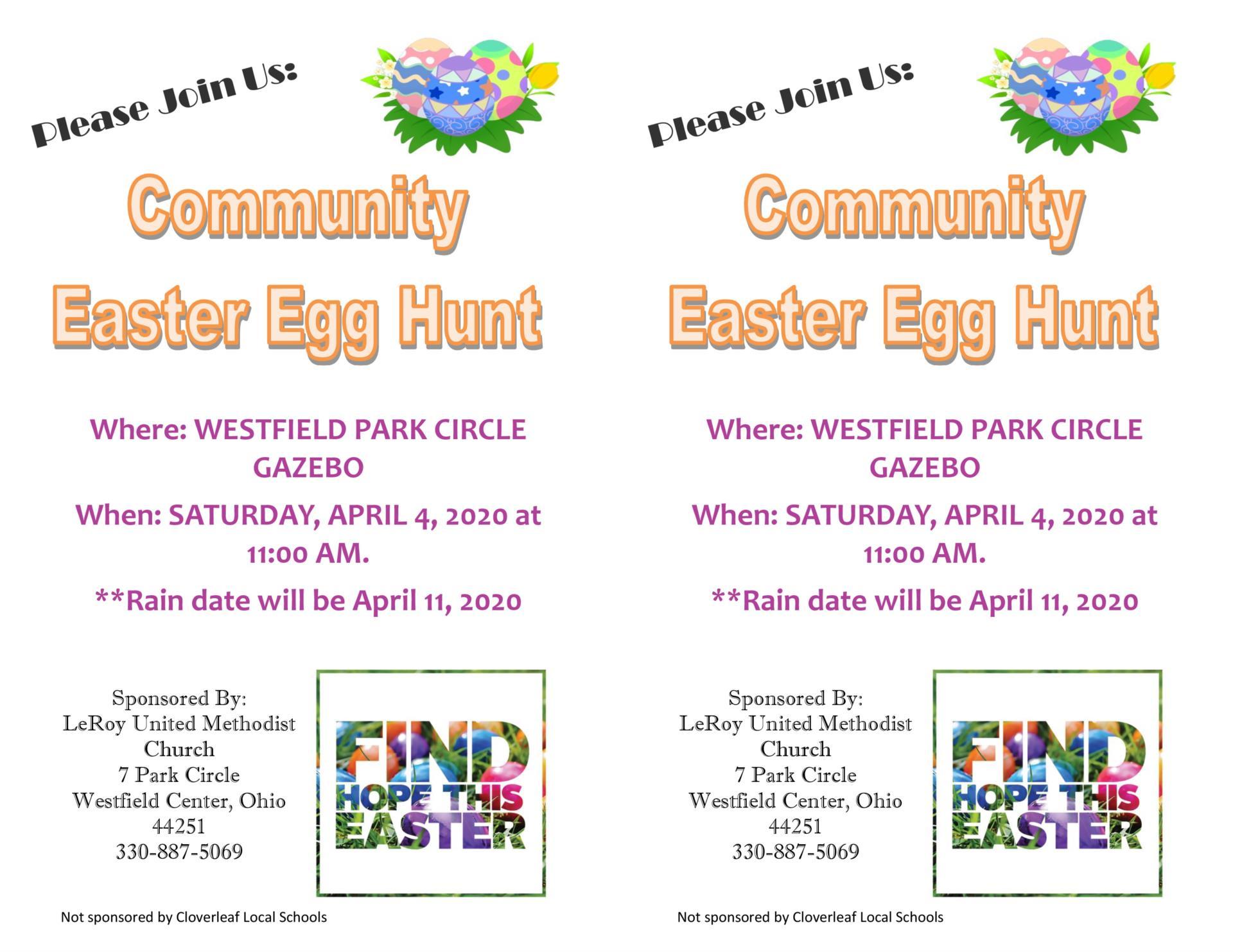 Easter Egg Hunt flyer