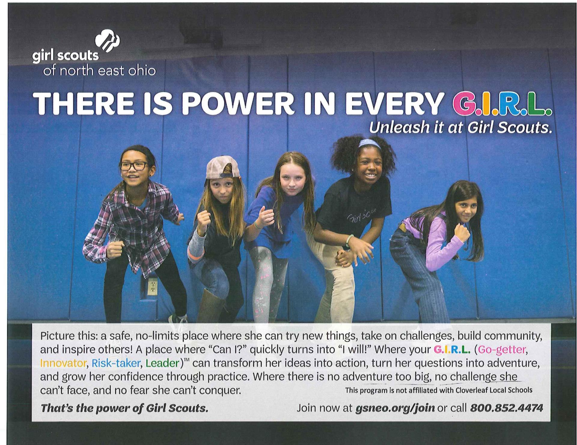Join the Girl Scouts flyer