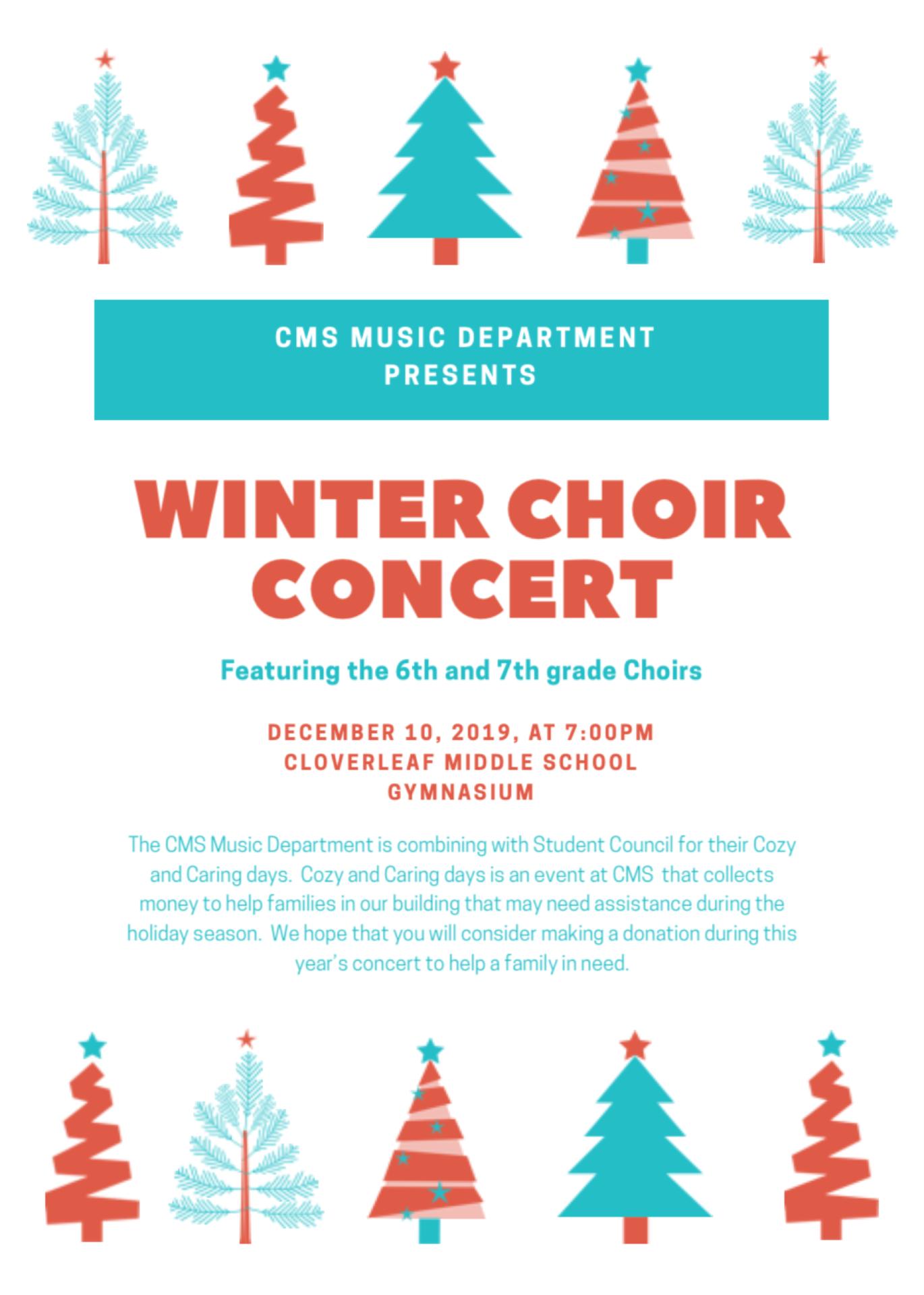 CMS Winter Choir Concert
