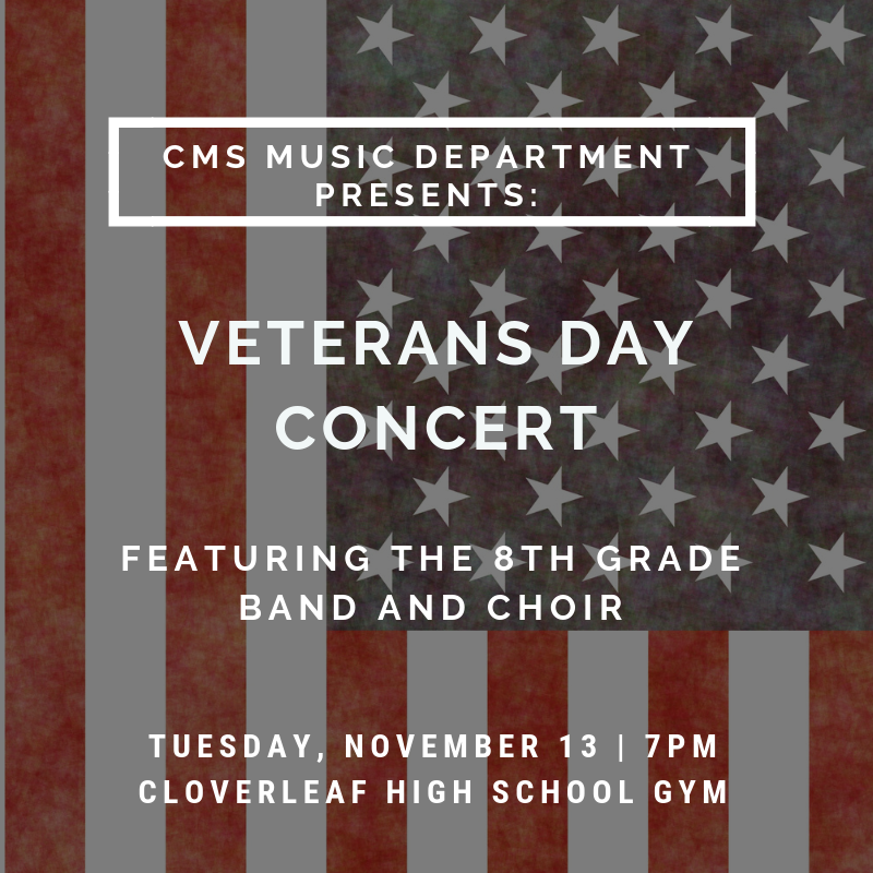 Veterans Day Concert poster