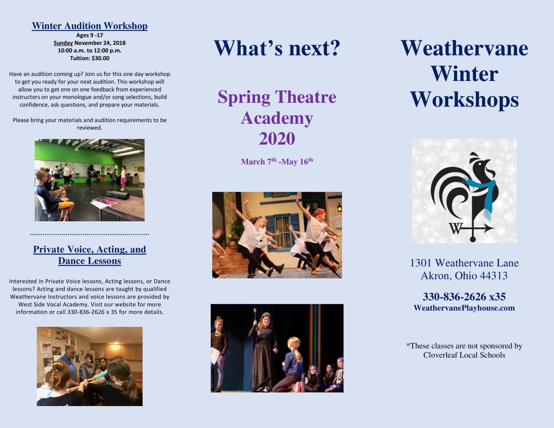 Weathervane Theater Workshop