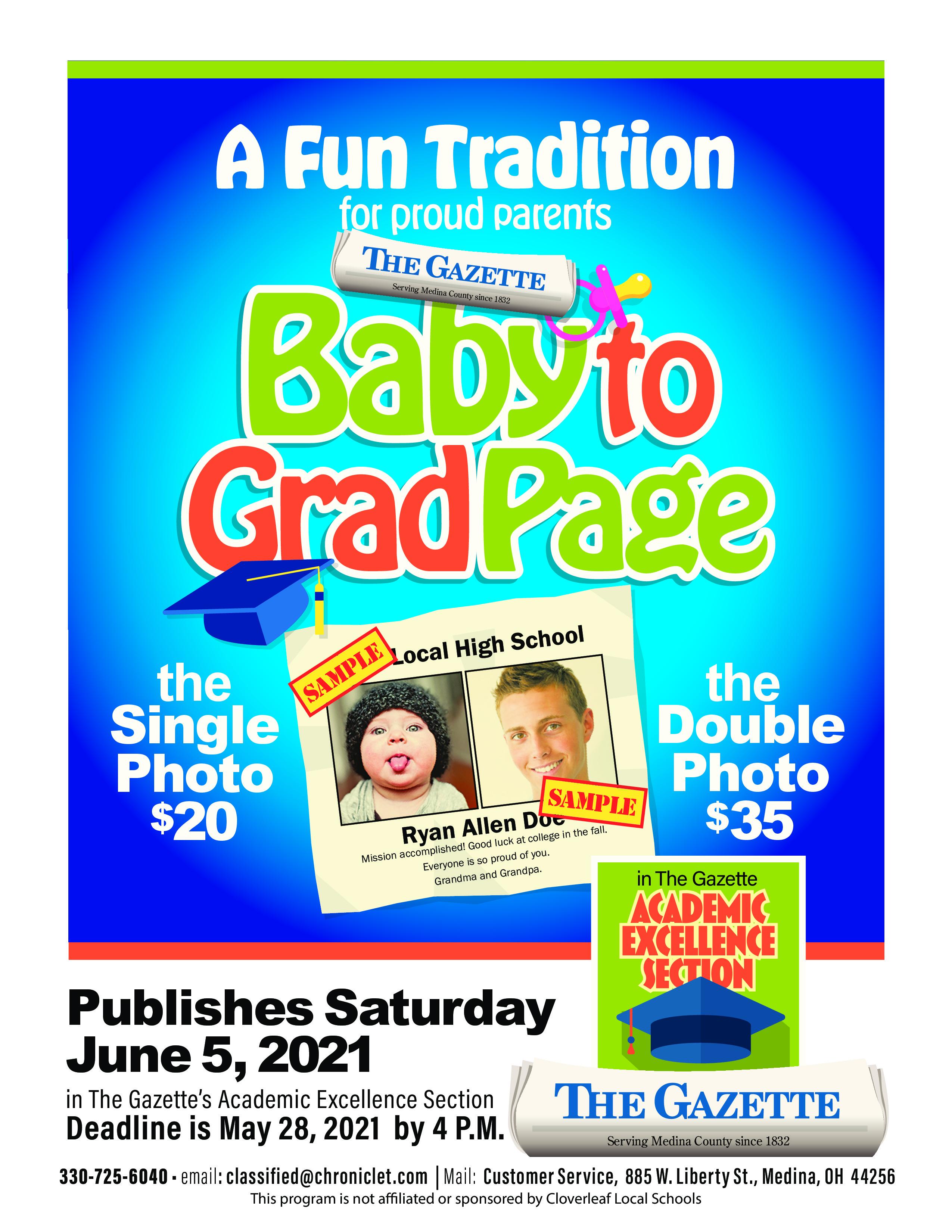 Gazette Baby to Grad Page
