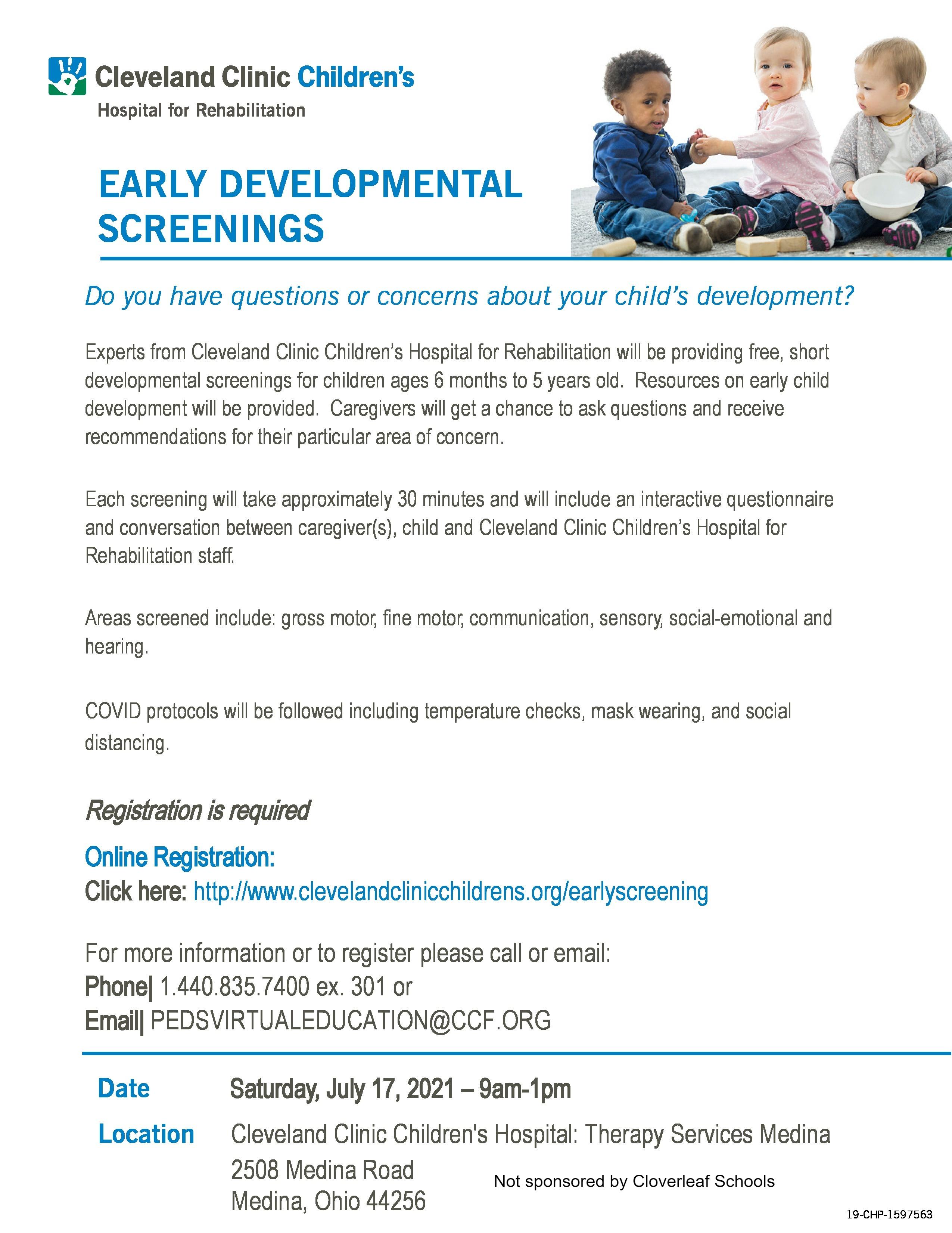 Cleveland Clinic early developmental screenings