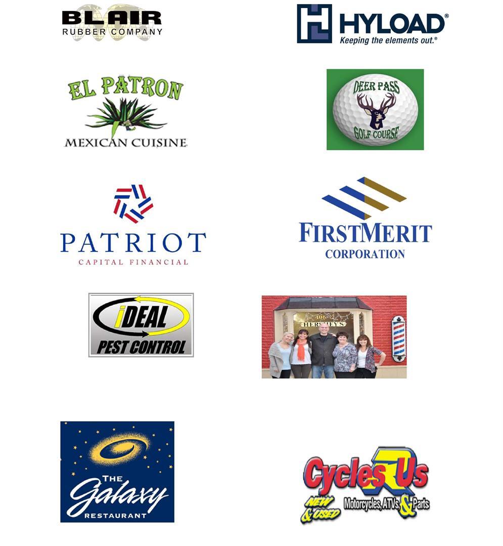 Golf outing sponsor logos
