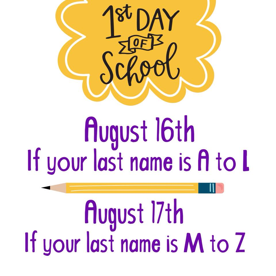font with back to school details