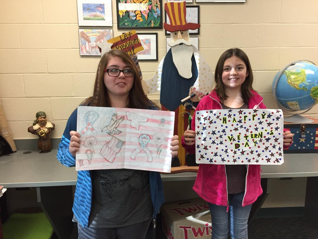 7th grade Social Studies students at Massillon Junior High School had the opportunity to learn about Veteran's Day