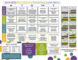 2019-20 Elementary Lunch Menu