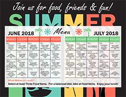 2018 Summer Meal Menu