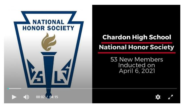 intro slide to CHS NHS 2021 New Member Induction Video, includes NHS logo