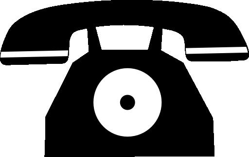 stock photo:  black and white telephone