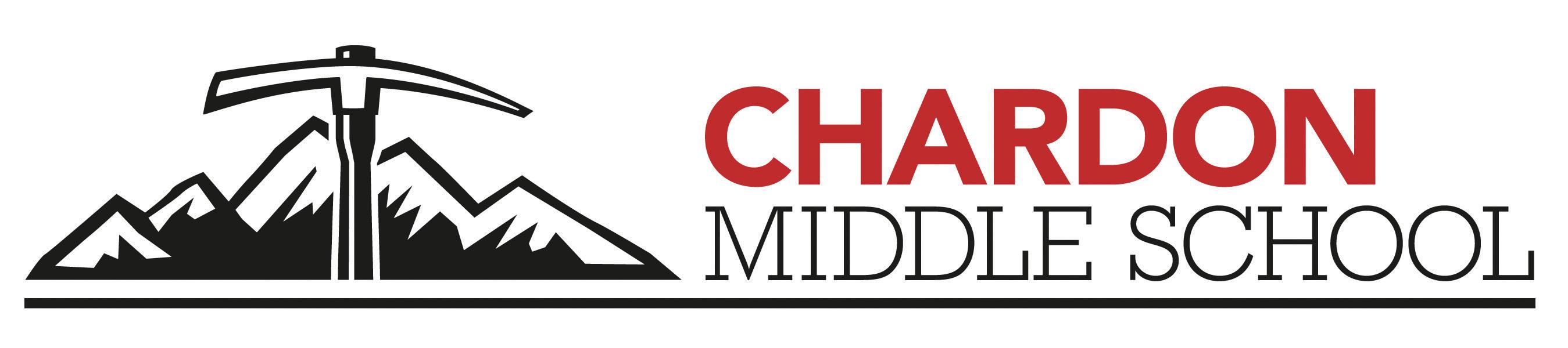 Chardon Middle School mountain axe logo