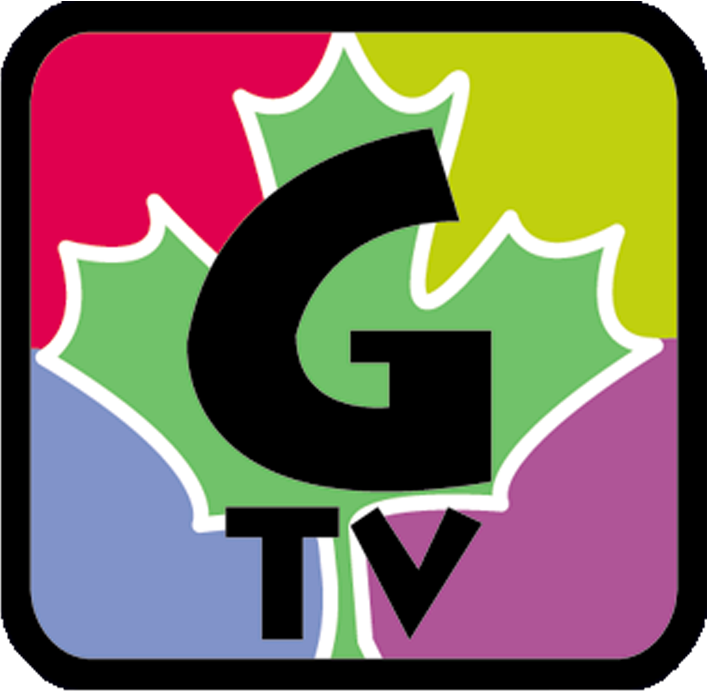 click image to access the Geauga-TV School Channel webpage / Channel 1025; image features the G-TV logo
