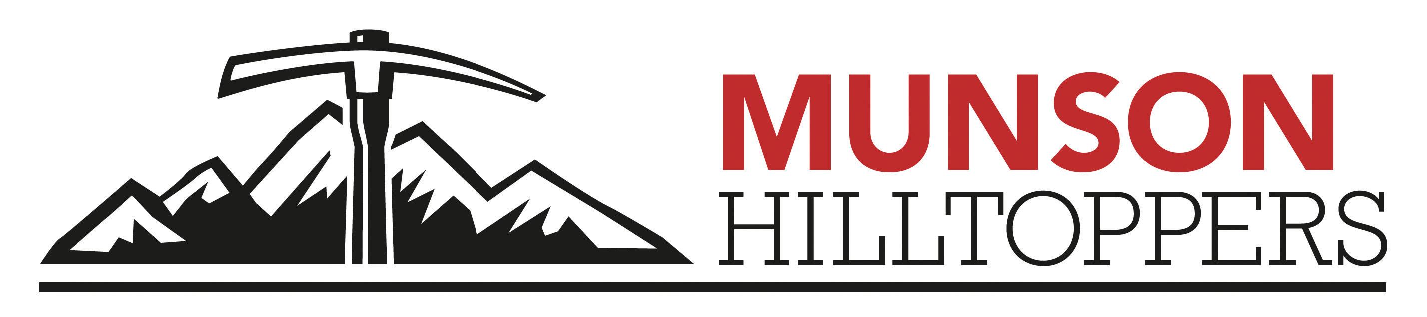Munson Hilltoppers mountain axe logo