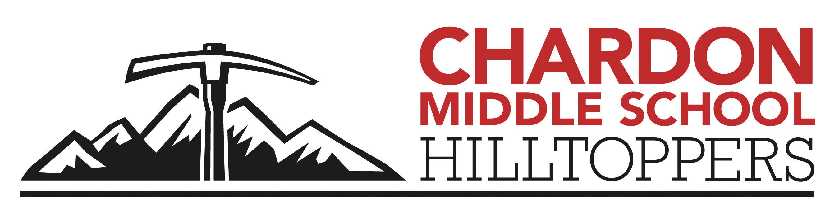 Chardon Middle School Hilltoppers mountain axe logo