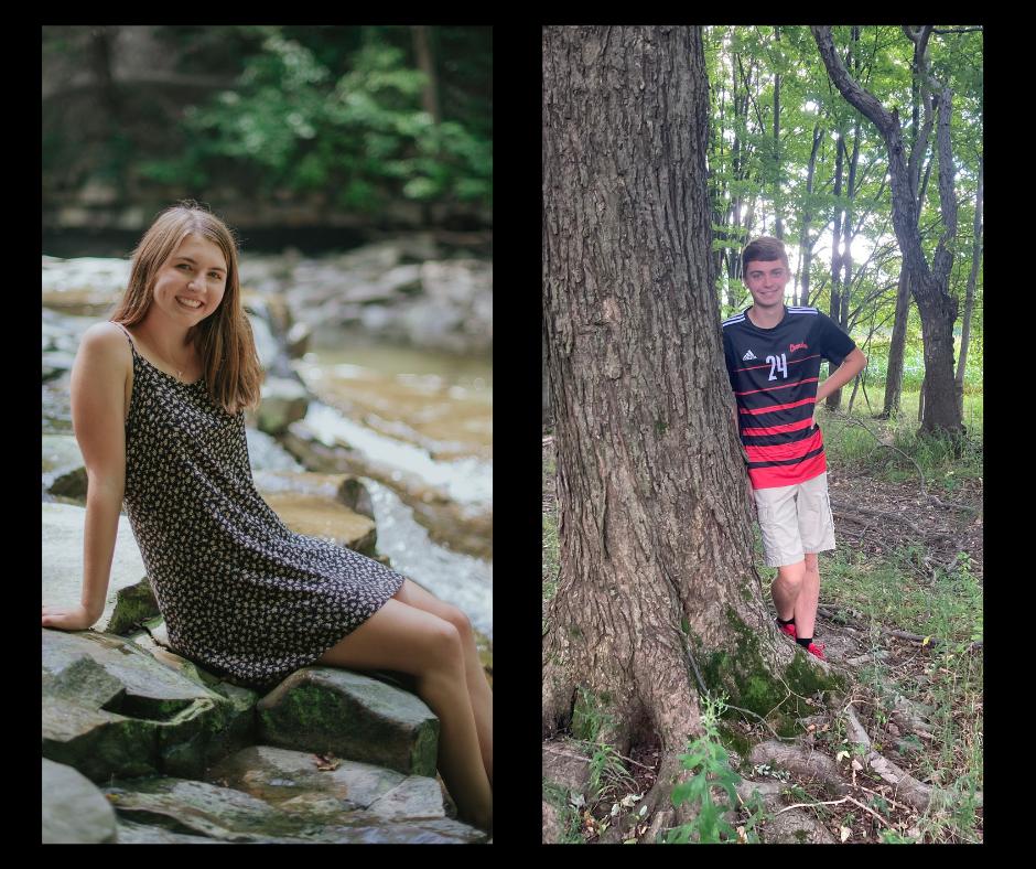 (l to r) CHS senior Morgan Fisher [photo credit:  Chloe Taddie Photography] and Sebastian Marker