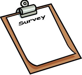 Survey Paper w/Clipboard - free clipart image