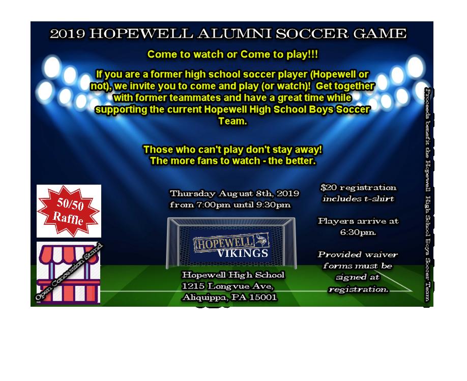 Hopewell Alumni Soccer Ad