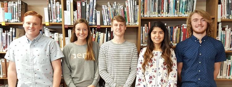 GCHS's 2018 Governor's Scholars: M Boden, M Vogt, J Alger, K Torres-Sanchez, B Spratt