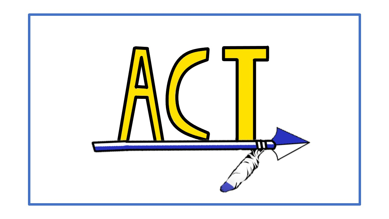 "ACT Logo for Grant County Schools. (Letters ""ACT"" above arrow with feather.)"