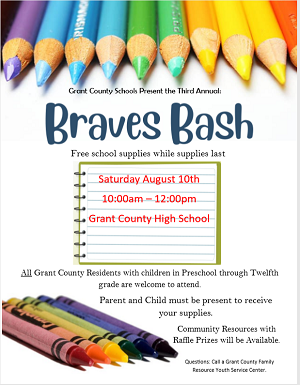 Braves Bash Flyer (Same text at right)