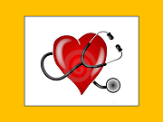 graphic of valentine-shaped heart with stethoscope