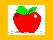 graphic of big, shiny apple