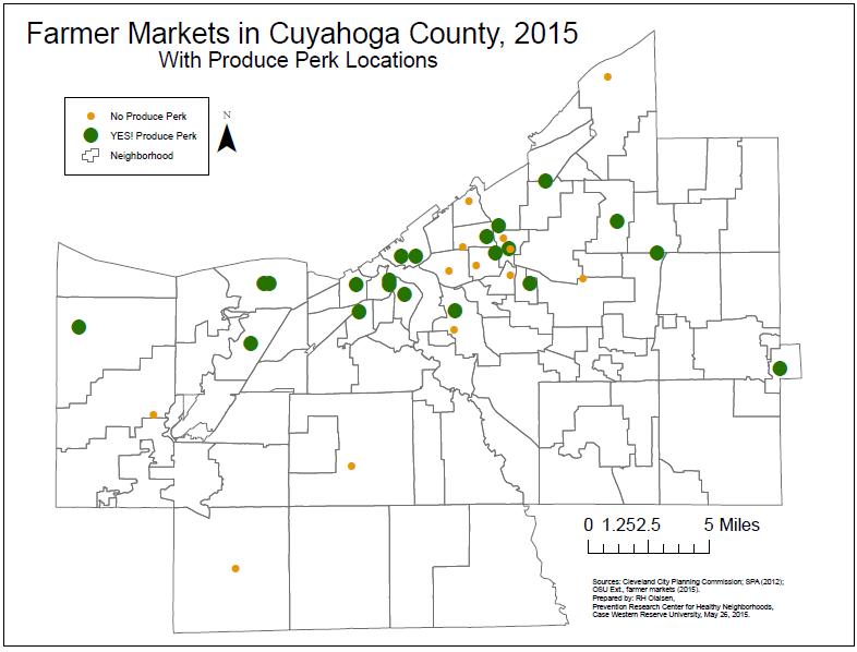 JPG of Farmers' Markets map