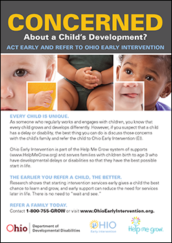 Download Early Intervention Provider Guidance Card