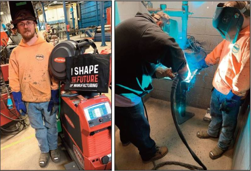 Adult Ed welding students with MAC Trailer Donation