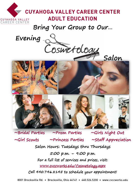 Cosmetology Salon - Bring Your Group!