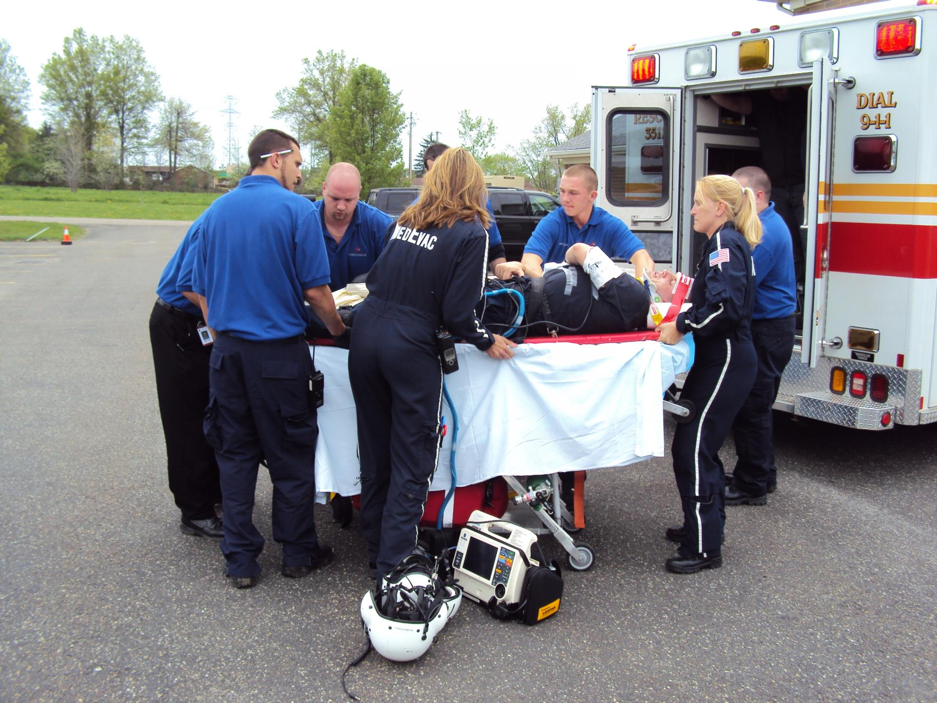 Emergency Medical Technicians outside of amubulance