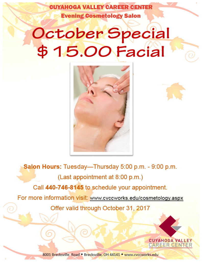 Evening Cosmetology Special for October