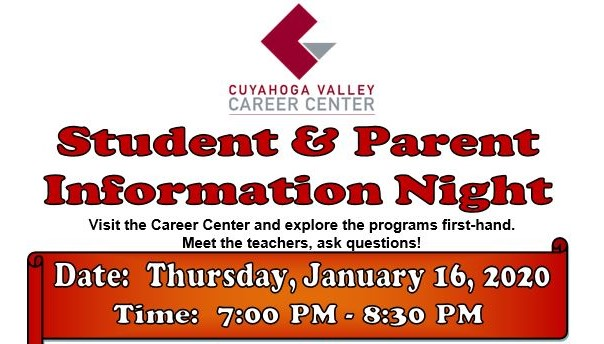 Student Parent Information Night Jan. 16