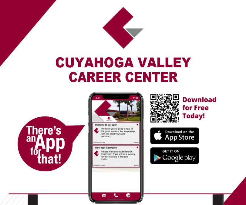 CVCC mobile app displayed on cell phone