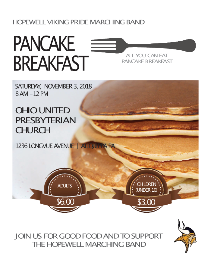 Flier for pancake Breakfast